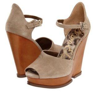 Sam Edelman   Javi Wedge Sandals Size 8
